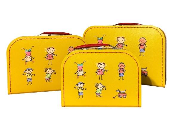 Spielkoffer Kofferset Strichmännchen 3tlg