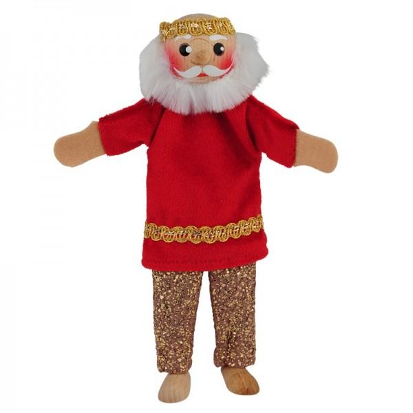 König mit Beinen   Fingerpuppen Kersa