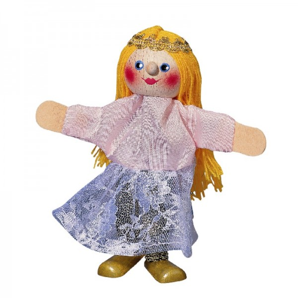 Prinzessin mit Beinen   Fingerpuppen Kersa