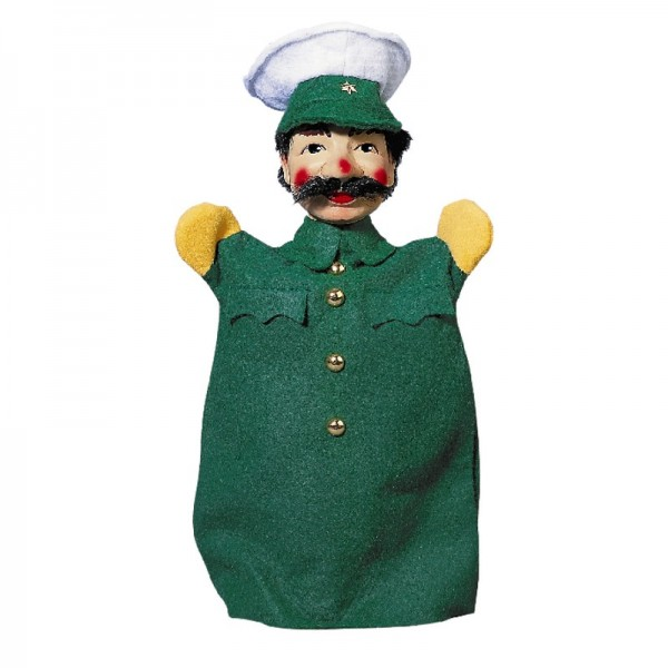 Polizist grün Handpuppen Kersa Micha