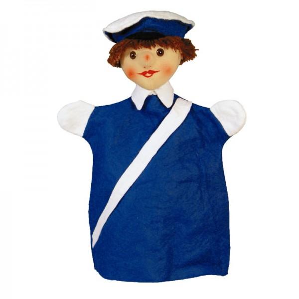 Polizist blau   Handpuppen Kersa Lina