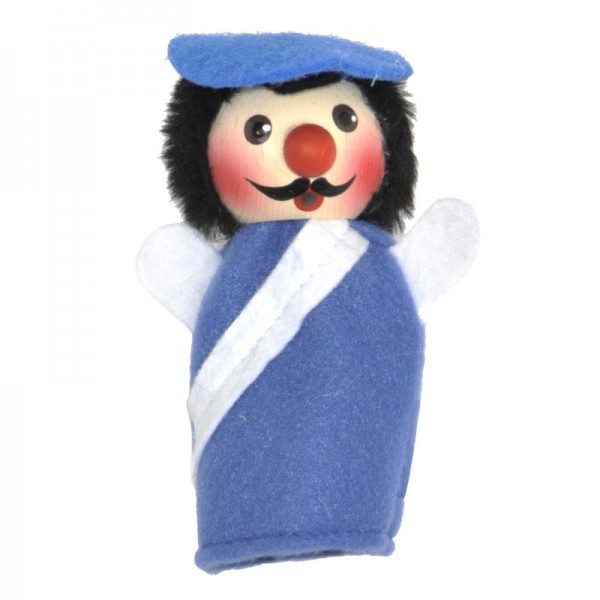Polizist blau   Fingerpuppen Kersa