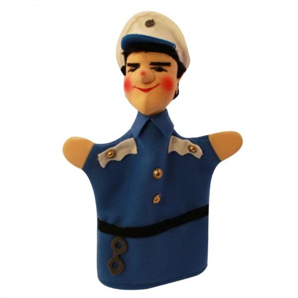 Polizist Bepo blau   Handpuppen Kersa Classic