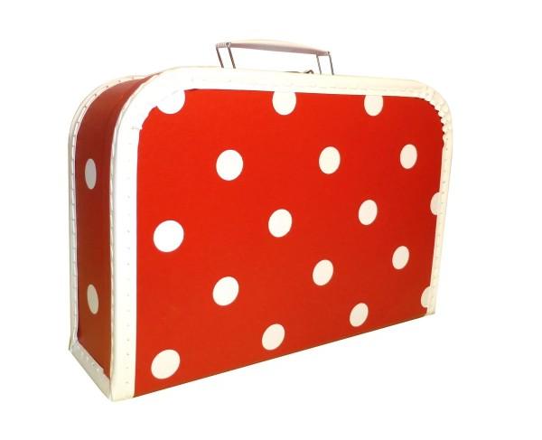 Spielkoffer Kofferset rot Punkte 3tlg
